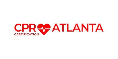 CPR Certification Atlanta tickets