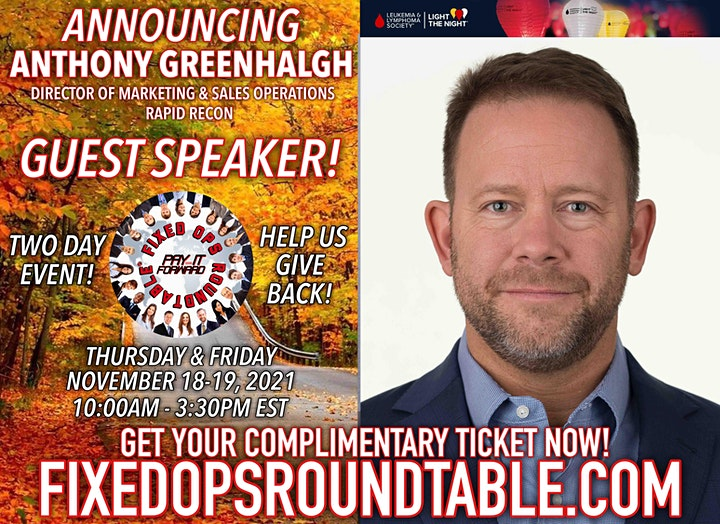 Ted Ings Presents FIXED OPS ROUNDTABLE: Pay It Forward! 2-Day Virtual Event image