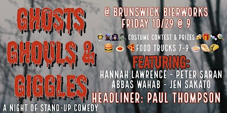 Ghosts, Ghouls, & Giggles - Comedy Night @ Brunswick Brewery tickets