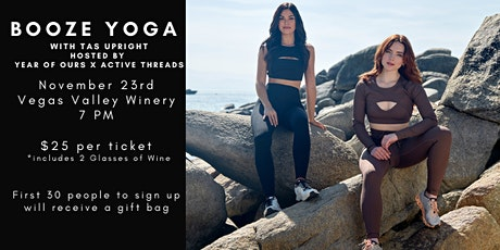 Booze Yoga Event- Year Of Ours x Active Threads Wild 5 Anniversary Party tickets