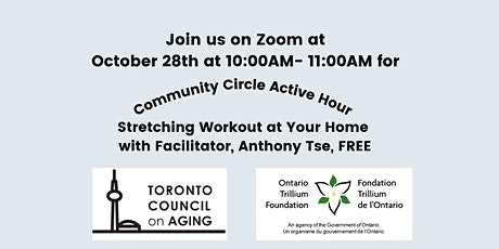Community Circle Active Hour - Stretching Workout at Your Home tickets