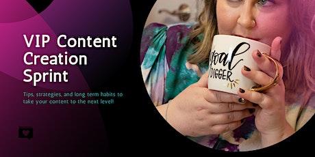 VIP Content Creation Sprint tickets