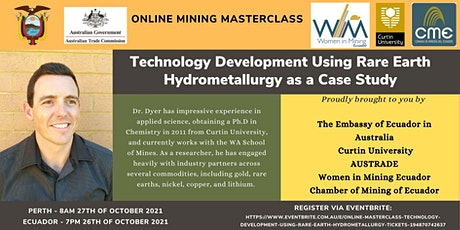 Online Masterclass -Technology Development Using Rare Earth Hydrometallurgy tickets