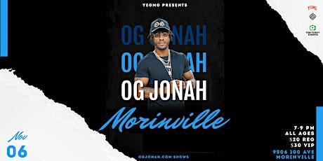OG Jonah: Back in Morinville tickets