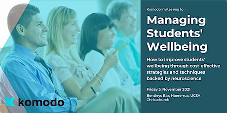 Managing Students' Wellbeing tickets