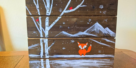 Fox in Winter Paint Party for Adults and Kids 8+ tickets