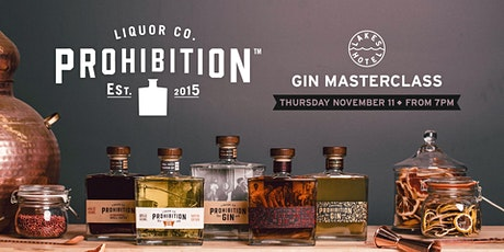 Prohibition Gin Masterclass tickets