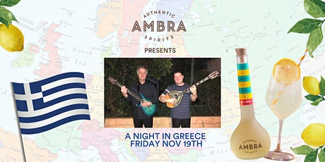 Ambra Presents 'A Night In Greece' Friday 19th November tickets