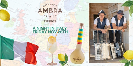 Ambra Presents 'A Return to Italy' Friday 26th November tickets