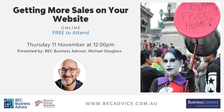 Getting More Sales on Your Website tickets