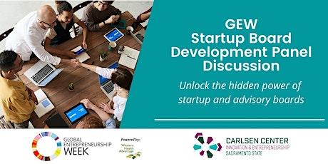 GEW: Startup Board Development Panel Discussion tickets