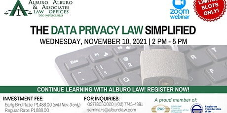 The Data Privacy Law Simplified tickets