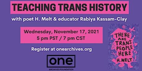 Teaching Trans History tickets