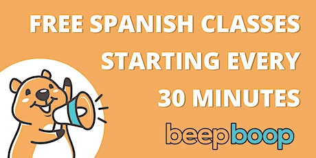 Free Spanish classes every day! tickets