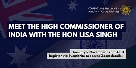 Meet the High Commissioner of India with the Hon Lisa Singh tickets