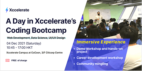 A day in Xccelerate's Coding Bootcamp tickets