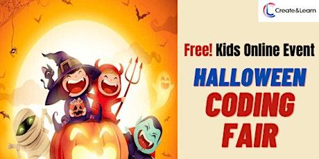 Free Kids Event! Online Coding Fair (Halloween theme) Tickets