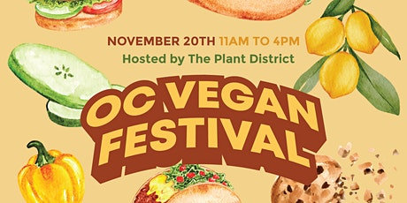 OC VEGAN FEST - SATURDAY NOVEMBER 20, 2021 tickets
