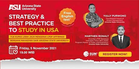 Strategy and Best Practice to Study in USA - 05 November 2021 biglietti
