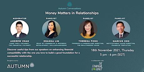 Autumn Conversations : Money Matters in Relationships tickets