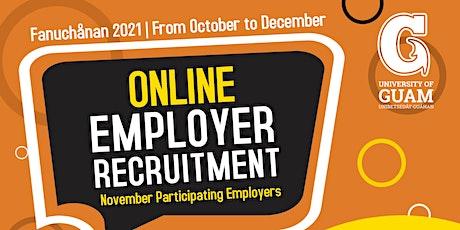 Fanuchånan 2021 Online Employer Recruitment Activity - NOVEMBER entradas