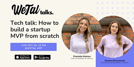 How to build a startup MVP from scratch - Live @ WeTal App tickets