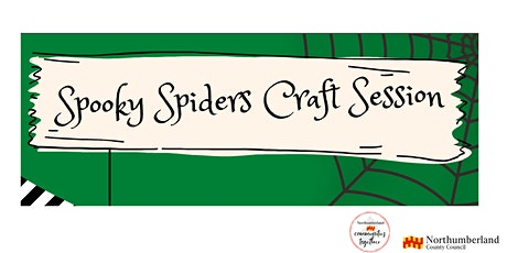 Spooky Spiders Craft Session 2 at Cramlington Library tickets
