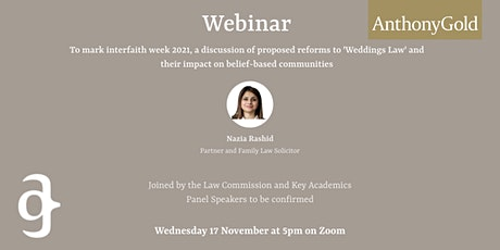 Weddings Law Reform Live Webinar tickets