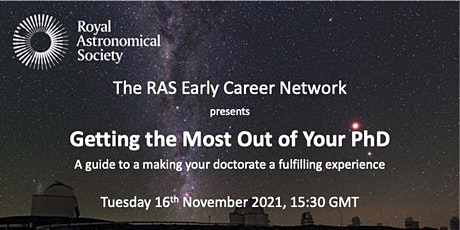 """""""Getting the Most Out of Your PhD""""  Non RAS Fellows tickets"""