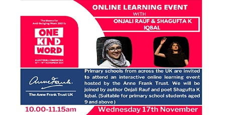 One Kind Word - An Anti-Bullying Week Online Learning Event tickets