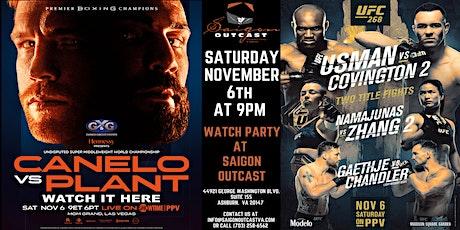Canelo  vs Plant & Usman vs Covington 2 Watch Party @ Saigon Outcast entradas