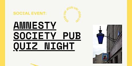 Amnesty Society Pub Quiz tickets