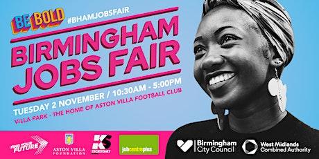 Birmingham Jobs Fair - 10.30 tickets
