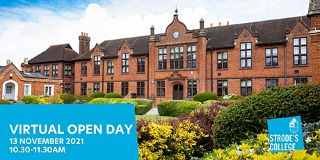 Strode's College Virtual Open Day tickets