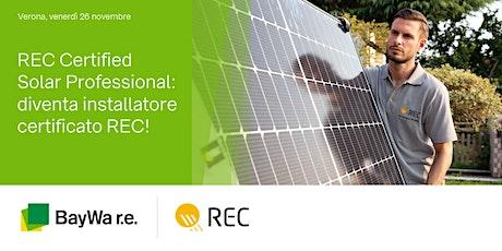 Verona, 26 novembre | Diventa REC Certified Solar Professional! tickets