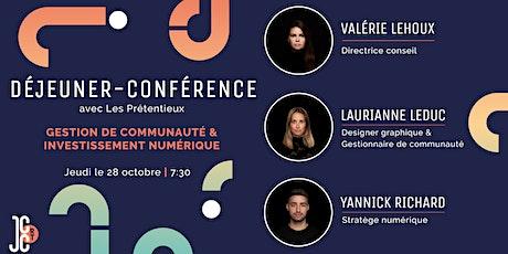 Déjeuner-conférence: Gestion de communauté et investissements numériques billets
