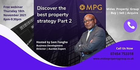 Discover Property Strategies for 2021 / 2022 (Part  2) tickets