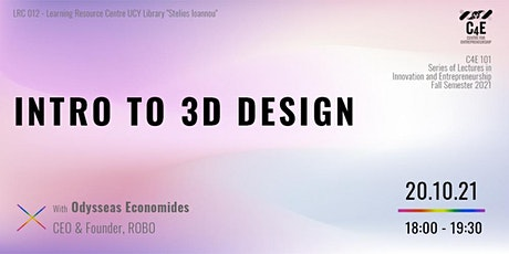 Intro to 3D Design tickets