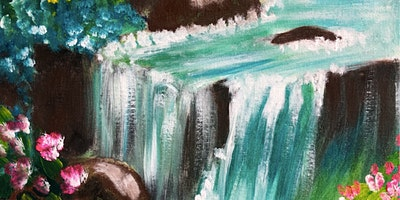ONLINE Paint Along @ Home —  Waterfall