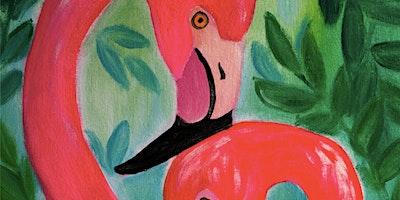 ONLINE Paint Along @ Home —  Flamingos