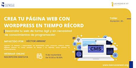 Webinar Emprende: Crea tu página web con Wordpress en tiempo récord entradas