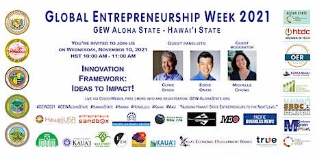 Innovation Framework (GEW Aloha State - State of Hawai'i) tickets