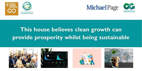 Can clean growth provide prosperity whilst being sustainable? tickets