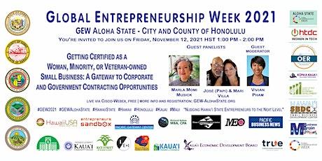 Certification for Woman, Minority, or Veteran-owned (GEW Aloha Honolulu) tickets