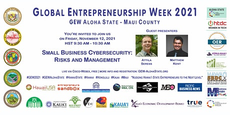 Small Business Cybersecurity (GEW Aloha State - Maui County) tickets