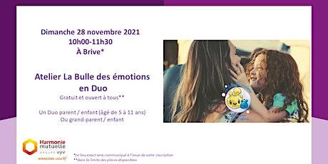 Atelier La Bulle des émotions en Duo billets