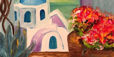 ONLINE Paint Along @ Home — Holiday in Greece