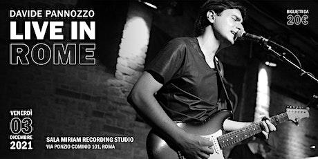Davide Pannozzo Live in Rome biglietti