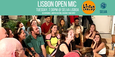 Open Mic Comedy in English and TACO TUESDAY! bilhetes