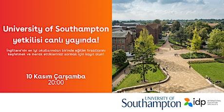 Southampton Üniversitesi yetkilisi canlı yayında sorularınızı yanıtlıyor! tickets
